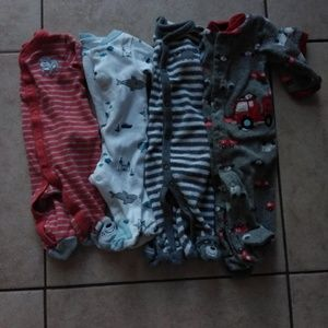 NB 4 footed pajama baby boy bundle